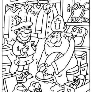 Sinterklaas-kleurplaat007