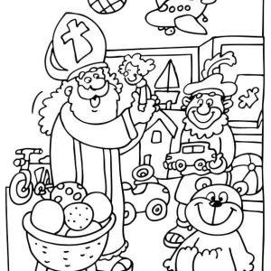 Sinterklaas-kleurplaat009