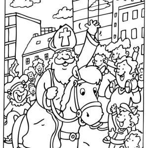 Sinterklaas-kleurplaat014