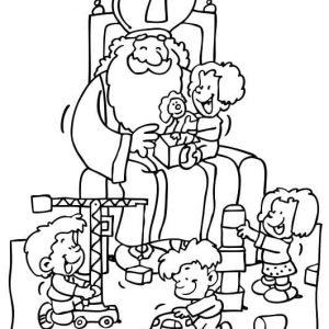 Sinterklaas-kleurplaat034