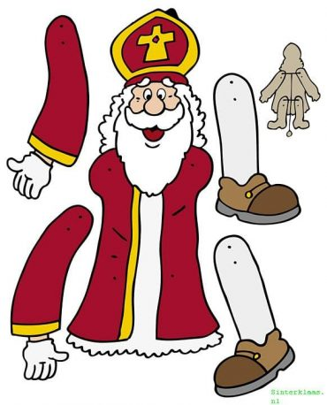 Sinterklaas trekpop knutselen