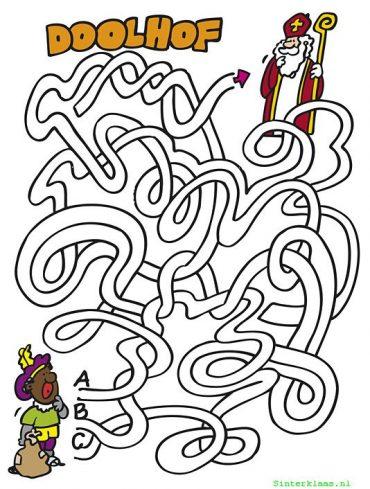 Sinterklaas doolhof puzzel