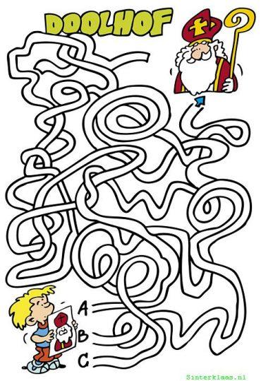 Sinterklaas doolhof puzzel 2