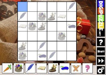 Sudoku met Sinterklaas en zijn Pieten